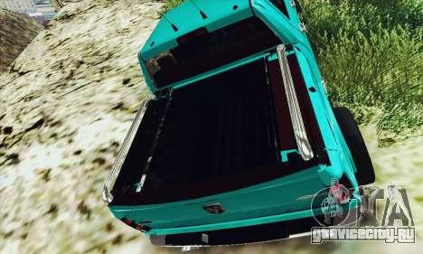 Dodge Ram 2500 HD для GTA San Andreas вид сзади слева