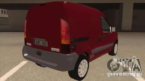 RENAULT KANGOO v1 для GTA San Andreas вид справа