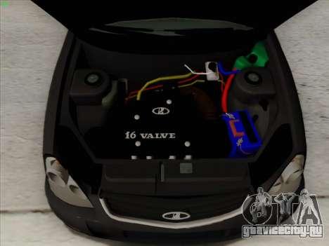 Lada Priora для GTA San Andreas вид снизу