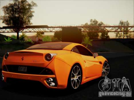 Ferrari California 2009 для GTA San Andreas вид сверху
