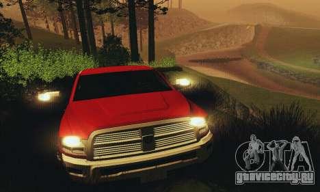 Dodge Ram 2500 HD для GTA San Andreas вид сверху