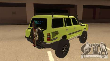 Toyota Land Cruiser для GTA San Andreas вид справа