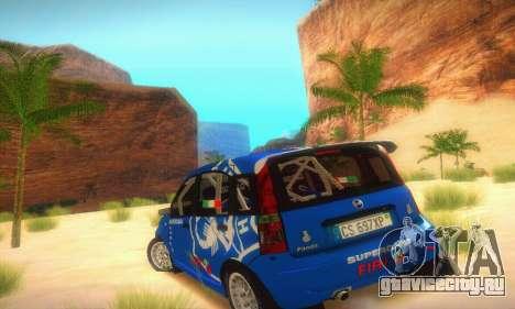 Fiat Panda Rally для GTA San Andreas вид справа