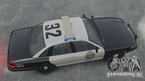 Полицейский Cruiser GTA V для GTA 4 вид справа