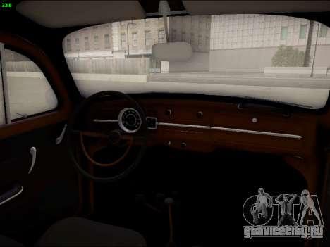 Volkswagen Beetle для GTA San Andreas вид сверху