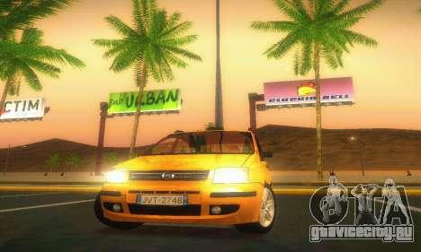 Fiat Panda Taxi для GTA San Andreas вид изнутри
