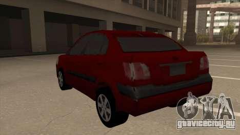 KIA RIO II для GTA San Andreas вид сзади
