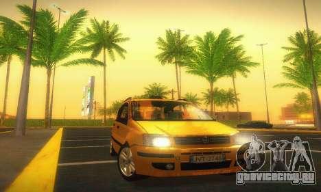Fiat Panda Taxi для GTA San Andreas вид сзади