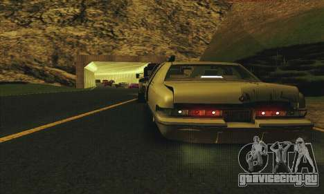Buick Roadmaster Разбитый для GTA San Andreas вид изнутри
