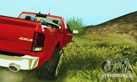 Dodge Ram 2500 HD для GTA San Andreas вид справа