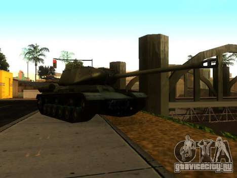 ИС-2 для GTA San Andreas вид сзади слева
