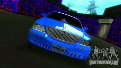 Lincoln Town Car Tuning для GTA Vice City вид слева