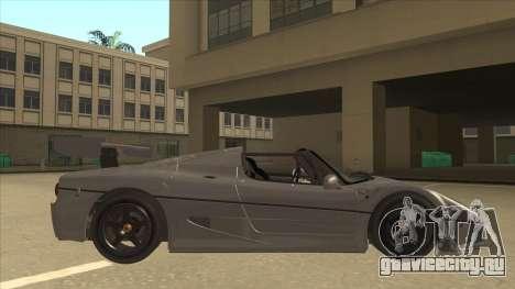Ferrari F50 GT TT Black Revel для GTA San Andreas вид сзади слева