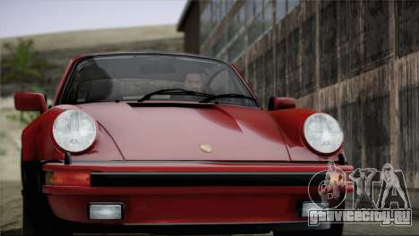 Porsche 911 Turbo 3.3 Coupe 1982 для GTA San Andreas салон