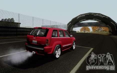 Jeep Grand Cherokee SRT10 для GTA San Andreas вид сзади слева