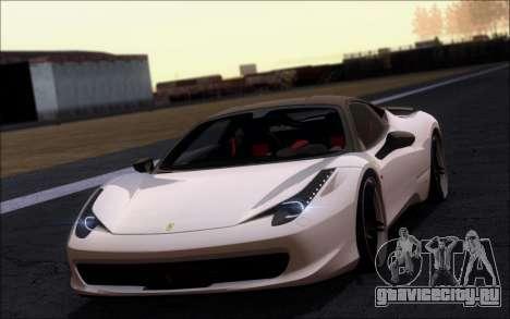 Ferrari 458 Italia Novitec Ross для GTA San Andreas