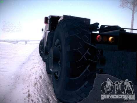 МАЗ 537 для GTA San Andreas вид изнутри