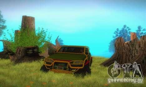 УАЗ Патриот Пикап для GTA San Andreas вид сбоку