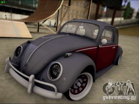 Volkswagen Beetle для GTA San Andreas вид сбоку