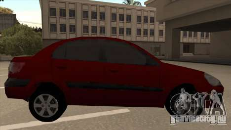 KIA RIO II для GTA San Andreas вид сзади слева