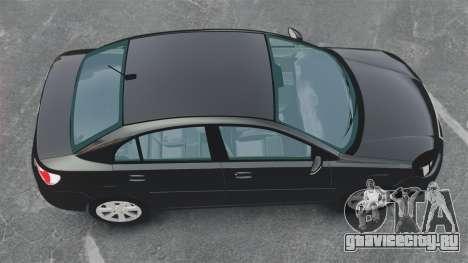 Kia Rio 2009 для GTA 4 вид справа