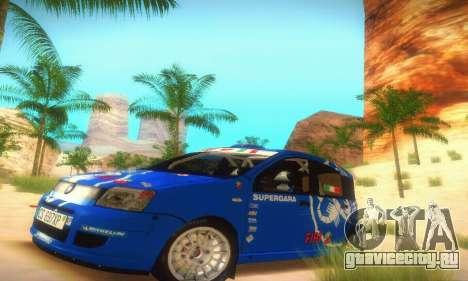 Fiat Panda Rally для GTA San Andreas вид слева