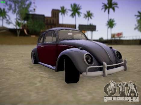 Volkswagen Beetle для GTA San Andreas вид сзади