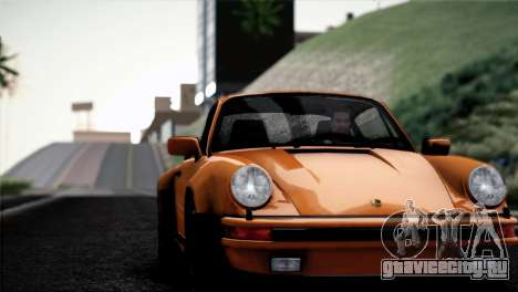 Porsche 911 Turbo 3.3 Coupe 1982 для GTA San Andreas вид изнутри