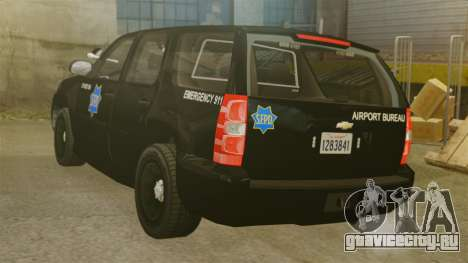 Chevrolet Tahoe 2010 PPV SFPD v1.4 [ELS] для GTA 4 вид сзади слева