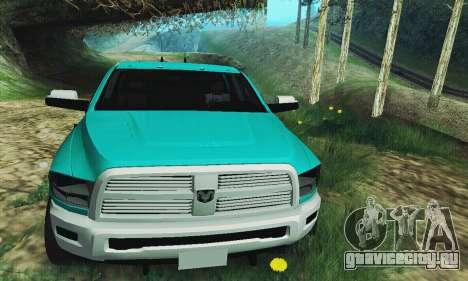Dodge Ram 2500 HD для GTA San Andreas вид сзади