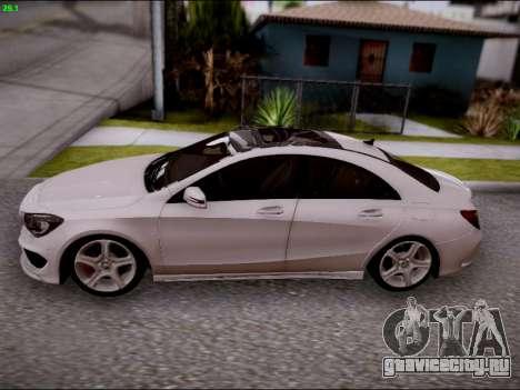 Mercedes-Benz CLA 250 для GTA San Andreas вид изнутри