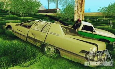 Buick Roadmaster Разбитый для GTA San Andreas вид сзади слева