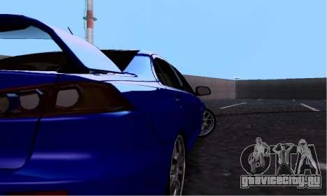 Mitsubishi Lancer Evo Drift Edition для GTA San Andreas вид сзади