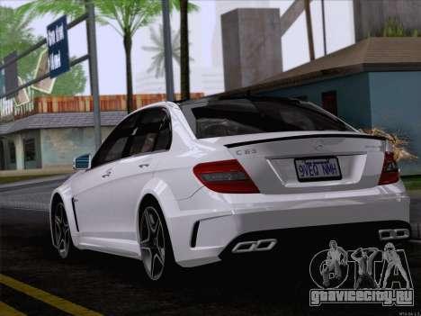 Mercedes-Benz C 63 AMG для GTA San Andreas вид слева