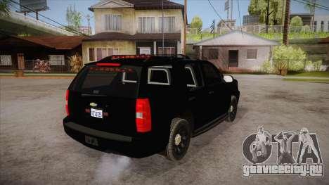 Chevrolet Tahoe LTZ 2013 Unmarked Police для GTA San Andreas вид справа