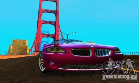 BMW Z4 2005 для GTA San Andreas вид сзади
