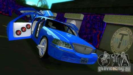 Lincoln Town Car Tuning для GTA Vice City вид изнутри