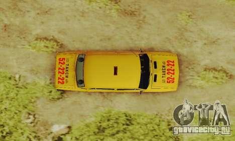 ВАЗ 2106 Такси для GTA San Andreas вид сбоку
