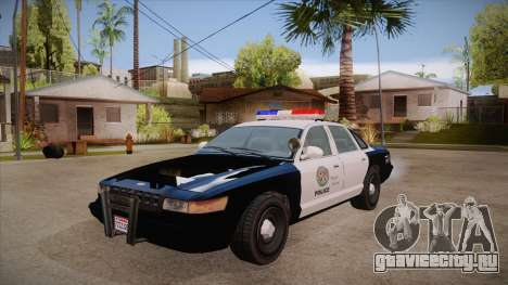Vapid GTA V Police Car для GTA San Andreas