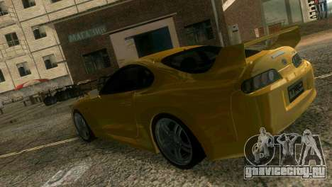 Toyota Supra TRD для GTA Vice City вид изнутри