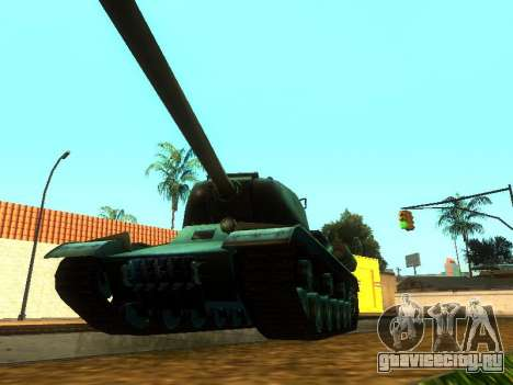 ИС-2 для GTA San Andreas вид сзади