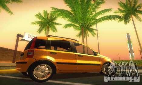 Fiat Panda Taxi для GTA San Andreas вид слева