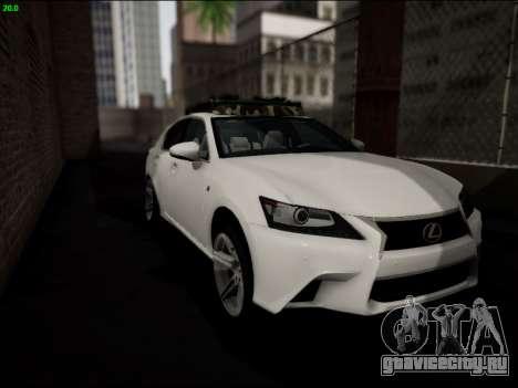 Lexus GS 350 для GTA San Andreas вид сбоку