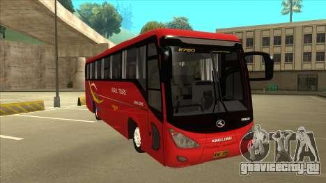 KINGLONG XMQ6126Y - Rural Tours 2780 для GTA San Andreas вид слева