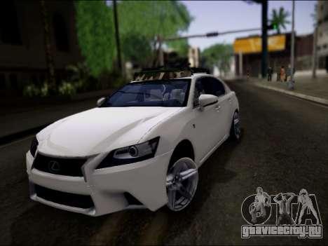 Lexus GS 350 для GTA San Andreas вид снизу