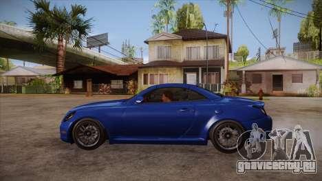 Lexus SC430 2JZ-GTE Black Revel для GTA San Andreas вид слева