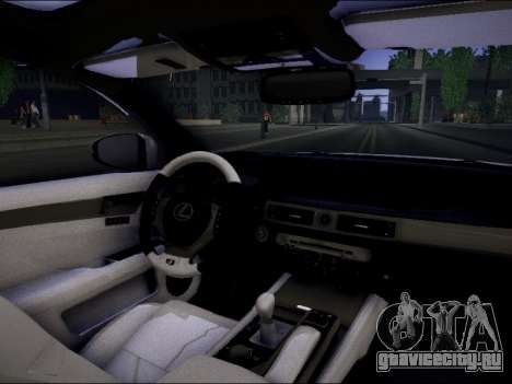 Lexus GS 350 для GTA San Andreas вид сзади слева