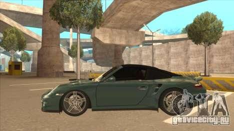Porsche 911 Turbo Cabriolet 2008 для GTA San Andreas вид изнутри