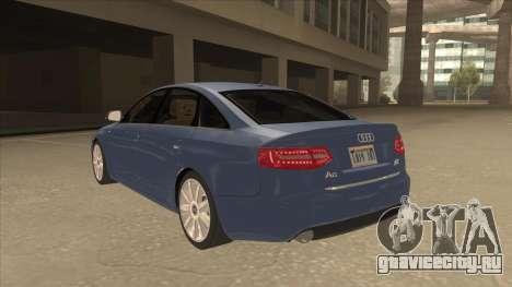 2010 Audi A6 4.2 Quattro для GTA San Andreas вид сзади
