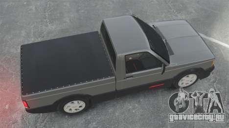 GMC Syclone 1992 для GTA 4 вид справа